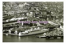 rt0117 - Aerial view of P&O Liner in Sydney Harbour , Australia  - photograph