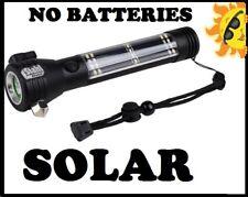 Cree 3W LED Solar Multi-Function Rechargeable Flashlight USB Charging 200 lumina