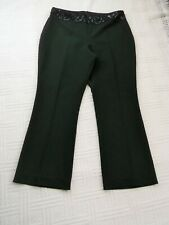 """Simply Classic   size 14  .... BLACK  SPARKLY  WAISTBAND  TROUSERS    28.5""""  leg"""