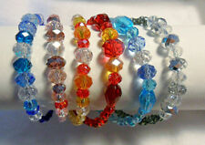 Mixed Metals Glass Beaded Costume Bracelets
