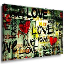 Love Leinwandbild AK Art Bilder Mehrfarbig Wandbild Kunstdruck Wanddeko TOP XXL