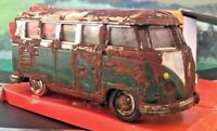 AMAZING CUSTOMISED DIE CAST VW CAMPERVAN RUSTED UNIQUE SCALEXTRIC PROP P31