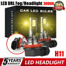 2X H11 Auto Car LED Headlight Fog Light Bulb Driving DRL Lamp 110W 3000K Canbus