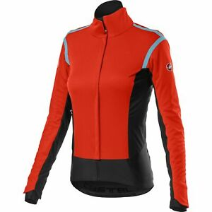 Castelli Alpha RoS 2 Women's Bicycle Cycle Bike Jacket Fiery Red