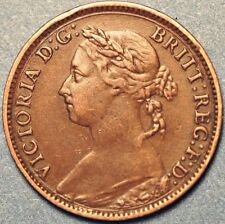 1887 United Kingdom Farthing  Victoria Queen A471