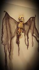 """Halloween 43"""" Angel of Death Hanging Bat Skull SKELETON GHOUL DECORATION PROP"""