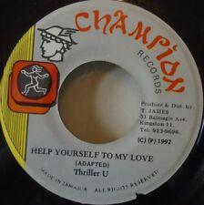 "THRILLER U - Help Yourself To My love ~ 7"" Single JA PRESS"