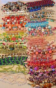 Huge lot 100 strands Lilah Ann Beads, Murano Lampwork Glass, Stone, Pearl B-A475