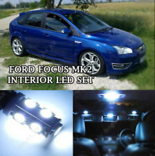 FORD FOCUS MK2 INTERIOR KIT ERROR FREE PURE WHITE LED LIGHT BULBS COMPLETE SET