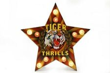 TIGER THRILLS Light up LED bulb Star Carnival Sign Wall art Circus Bedroom