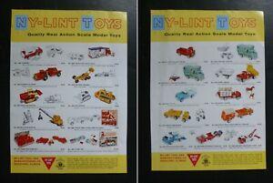 Vtg RARE 1962 DEALER Ad – NyLint Truck shows 21 Different Pressed Steel