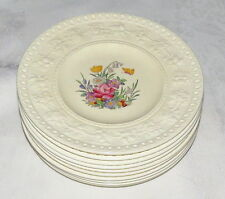 "Wedgwood Wellesey Tintern TEN 6.3/4"" Bread Plates - Old mark"