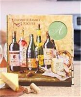 MONOGRAM WINE THEMED RECIPE KEEPER HARDCOVER BINDER PAGE DIVIDERS WITH LABELS