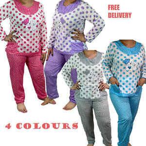 Pyjama Set Nightwear Loungewear 100% Cotton Nightshirts Nightdress Bed Time Cute