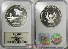 Congo 2011 silver 10 franc Endangered Wildlife Orca Animals Dolphin Whale PR69