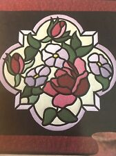 """VTG SPECTRAL DESIGNS 1991 CATHY ROBISCOE """"THE ROSE"""" APPLIQUE QUILT PATTERN FF UC"""