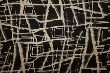 Black White Abstract Geo Charmeuse Print #27 Apparel Dress Sewing Fabric BTY