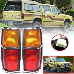 Tail Light Rear Lamp Chrome Pair For Nissan Datsun 720 Pickup Ute 1980-1986