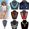 Fashion Bohemia Women Bead Necklace Long Multi Layer Chain Bib Statement Jewelry