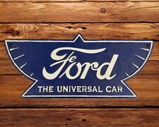Ford Logo Plaque Cast Iron Sign Large 29cm Repro Vintage Style Garage Man Cave