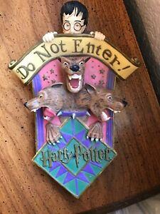 Harry Potter Enesco 2001 Sculpted Door Decoration Motion Sensor Barking HTF