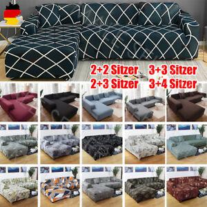 2 Stücke Sofa Überwürfe Sofabezug L Form Elastisch Couch Sofahusse für Ecksofa.