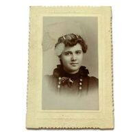 Antique Cabinet Card Photograph Beautiful Young Woman Teen Girl