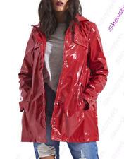 Cappotti e giacche da donna impermeabili rossi con bottone