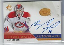 MIKE CONDON 2015-16 UD SP Authentic FUTURE WATCH LIMITED AUTO RC /100 On Card SP