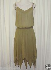 BEAUTIFUL SASS&BIDE MOSS GREEN COTTON LAYERED DRESS 40/4 (AUS 10/12)