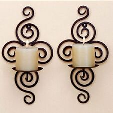 Candle Holder Wall Hanging Sconce Furnishing Articles Handmade Pair of Iron New