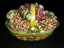 Harmony Kingdom ~ Longaberger / Peony Basket ~ May Series - In box with Papers