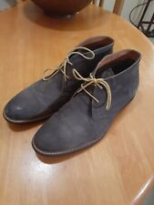 Florsheim mens blue suade shoes size EURO 43, UK 9, US 10  EE like new