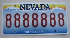 """NEVADA Vanity License Plate """" 8888888 """" GOOD LUCK ASIAN LUCKY CHINA CHINESE ASIA"""