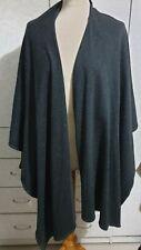 ALEMBIKA Israel 100% Wool Open Front Absract Jacket Cardigan OS