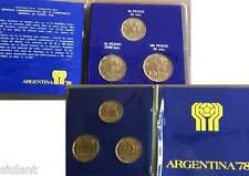 MONEDAS ARGENTINA. CAMPEONATO MUNDIAL DE FUTBOL 1978. 20, 50 y 100 PESOS. SC.