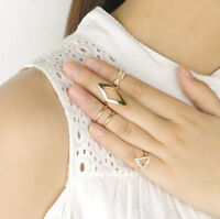 Celebrity Mid Midi Above Knuckle Ring Band Gold Silver Tip Finger Stacking Gifts