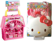 2 Hello Kitty Sets - Petite House and Purse with Strap and Accessories