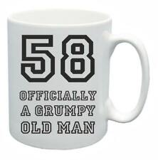 58th Novelty Birthday Gift Present Tea Mug Grumpy Old Git 58 Year Old Coffee Cup