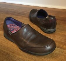 Merrell Womens Entice Espresso Brown Leather Ortholite Loafers Sz 6 EU 36