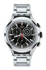SWATCH XLITE Negro Energía Reloj yys4000ag Análogo Cronógrafo aluminio PLATA