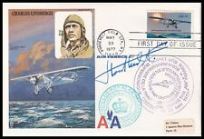 WWI Ace WILLY COPPENS DE HOUTHULST DSO MC Signed Charles Lindbergh RAF Cover