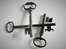 Lot de 3 Anciennes Clé Clef,Collection,Décoration,Serrure,Antique Key Castle