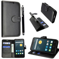 ZTE Blade A110 - Wallet Flip Book [Stand View] Card Case Cover + FREE STYLUS