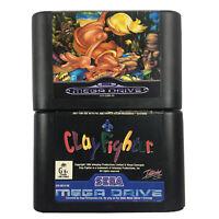 Sega Mega Drive Game Cartridges Greendog The Beached Surfer Dude& Clay Fighter
