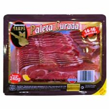 3 X 240 gr - SHOULDER HAM SLICED - SPANISH JAMON SERRANO -  CURED - GLUTEN FREE