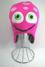 Kids Winter Pink Monster Beanie Hat
