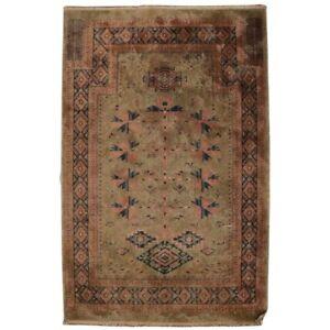 Antique Persian Silk Tabriz Oriental Rug Mat, circa 1910