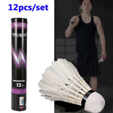 12pcs/set Outdoor Sports Training Durable Goose Feather Shuttlecocks Badminton\