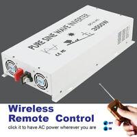 24V to 230V 240V Pure Sine Wave Inverter 5000W Solar Off Grid Syst Remote Switch
